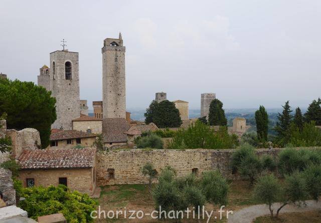 Point de vue depuis la petite terrasse du Museo del vino