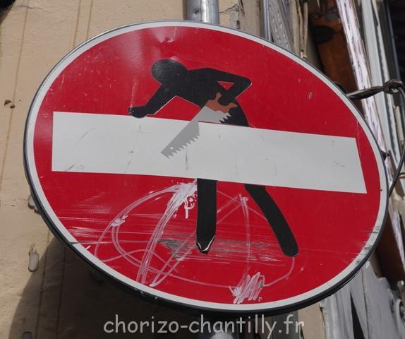 panneau sens interdit florence marché san lorenzo