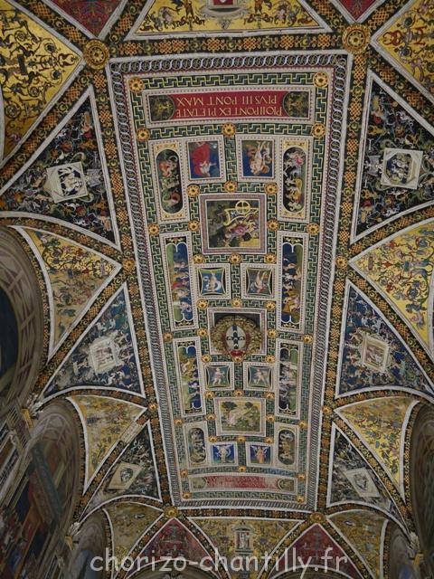 Interieur bibliothèque Duomo Sienne