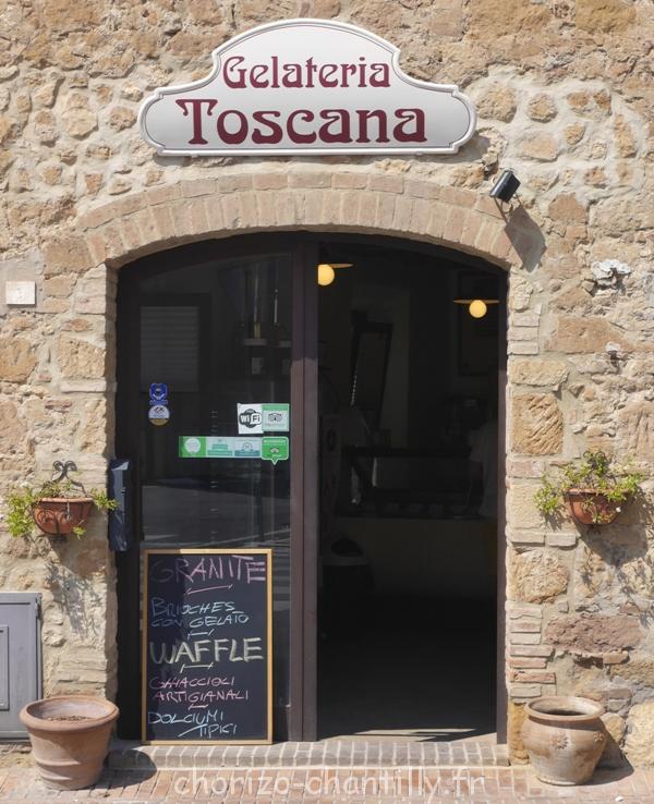 Gelateria Glaces Toscane Italie Pienza