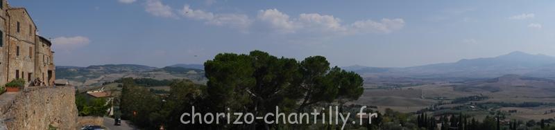 Panorama Pienza Toscane Italie