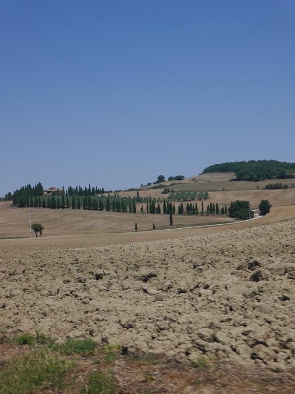 Paysage Val d'Orcia Août 2015 Toscane