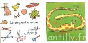 le serpent a avalé - le serpent affamé