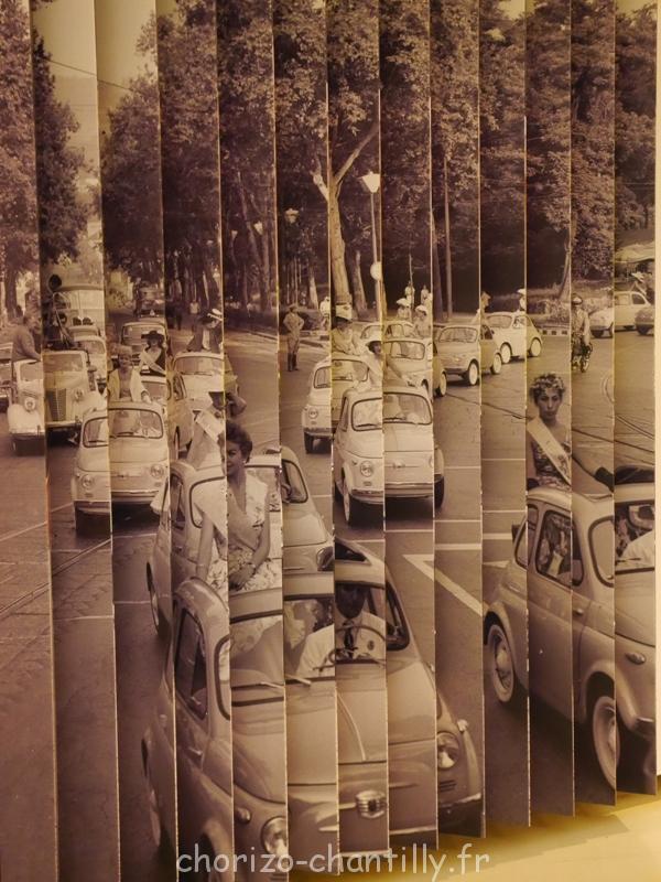 Musée Ferrari Modene activité manuelle jeu de collage point de vue 2